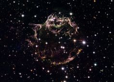 This image supplied by NASA and the European Space Agency, on August 29, 2006, is a composite made from 18 separate images taken using the Hubble Space Telescope providing a detailed look at the tattered remains of a supernova explosion known as Cassiopeia A (Cas A).