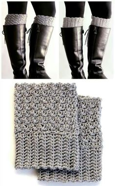 Boot cuffs two patterns/one cuff