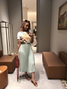 Best Skirt Outfits Part 9 Classy Outfits, Chic Outfits, Fashion Outfits, Elegant Summer Outfits, Woman Outfits, Fashionable Outfits, Office Outfits, Pretty Outfits, Fashion Clothes