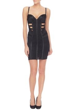 Black Label Onyx Dress  #british #designer #lingerie #architecture #nicholedecarle #luxury #fashion #onyx #readytowear #silk #lace #dress #cutout