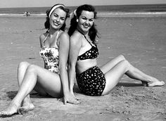 1950s fashion - These cute swim suits have inspired designers of today to make similar swim wear and they're flying off the racks...I know I bought one! year - 2013