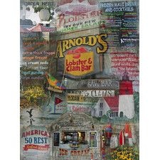 Arnolds Photographic Print Canvas.  Eastham, MA, Cape Cod - it's not just the amazing stack o' onion rings that make this iconic spot have lines out the door.