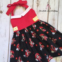 Vintage Style Minnie Mouse Dress 12 months by ElizabethMaeClothing
