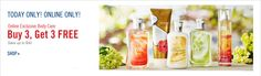 BATH & BODY WORKS B3G3 Sales Happen: At least 1 x a month EVERY month except July & August, sometimes happen TWICE a month. Be careful of B3G2 sales as they often end up being B3G3 sales the last few days of the sale.