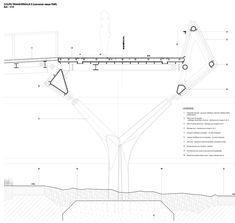 15 Innovative Pedestrian Bridges (And Their Construction Details),Cortesía de DVVD Engineers Architects Designers Bridge Structure, Shell Structure, Tower Bridge, Bridge Construction, Construction Drawings, Construction Design, Civil Engineering Works, Bridge Engineering, Jungle House