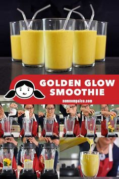 This Golden Glow Smoothie is a refreshing and creamy drink that packs in fresh fruit veggies coconut milk collagen and turmeric For more smoothie information, click the link. Paleo Smoothie Recipes, Smoothie Ingredients, Paleo Recipes, Vitamix Recipes, Snack Recipes, Strawberry Smoothie, Fruit Smoothies, Nom Nom Paleo, Paleo Whole 30