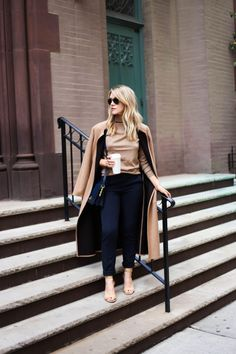 Camel + navy - classic chic