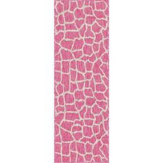 Unique Loom Outdoor Giraffe Pink 2 ft. x 6 ft. Runner Rug 3145224 - The Home Depot