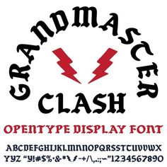 Grandmaster Clash - my font based on the 70's and 80's iron-on flock letters that was then turned in to the flock letters we sell - can now be purchased at worldfamousoriginal.com #font #typography #nyc #bboy