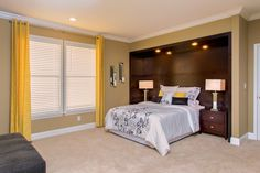 Contemporary Master Bedroom with  Decorative Accents and Furniture by www. Expressionsdecor.com