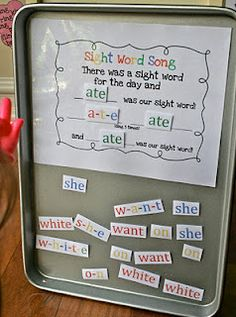 magnetic sight word activity idea