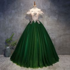 Chic / Beautiful Dark Green Prom Dresses 2018 Ball Gown Appliques Pearl Off Shoulder Backless . - Chic / Beautiful Dark Green Prom Dresses 2018 Ball Gown Appliques Pearl Off-the-Shoulder Backless S - Prom Dresses 2018, Quinceanera Dresses, Ball Dresses, Evening Dresses, Dress Prom, Afternoon Dresses, Flapper Dresses, Disney Dresses, Party Dress