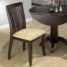 Vertical Slatback Side Chair in Dark Chianti Finish  Set of 2 -- You can find more details by visiting the image link.