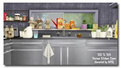 Msteaqueen: Kitchen deco • Sims 4 Downloads