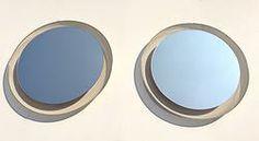 Vintage Illuminated Mirrors, Mategot, 70s PAIR