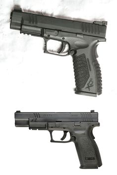Springfield XD Tactical & XDM 9mm w/stippling.