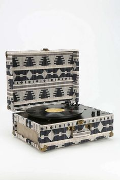 Crosley AV Room Geo Fabric Vinyl Record Player