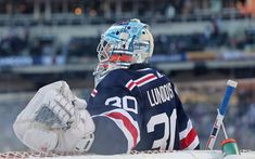Download wallpapers Henrik Lundqvist, 4k, hockey players, goalkeeper, New York Rangers, NHL, hockey