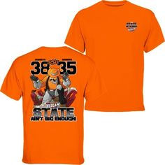 Mens Oklahoma State Cowboys vs. Oklahoma Sooners Orange 2014 Score T-Shirt
