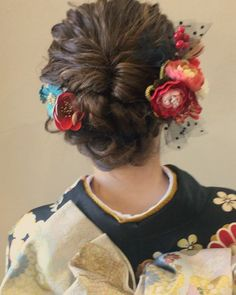 Japanese Hairstyles, Hair Arrange, Yukata, Hair Comb, Kimono, Hair Styles, Clothes, Beauty, Instagram
