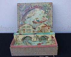 Rare Ancien JEU DE Peche Saussine Boite Musique French Fishing Game Music BOX | eBay