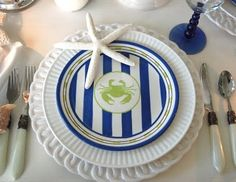 Nautical & Beach Theme Table Setting