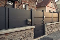 Kitchen Furniture, Furniture Design, Entry Gates, House Entrance, Fence, Garage Doors, Sweet Home, Outdoor Decor, Garden