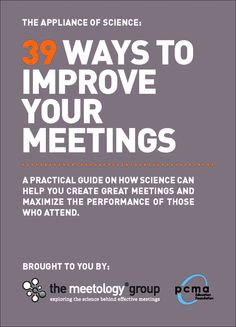 39 Ways to Improve Your Meetings via PCMA