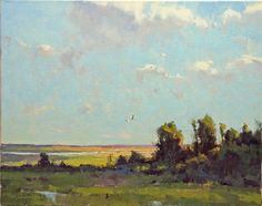 'Mid - Afternoon August' - oil on canvas - 16x20 Horton Hayes Fine Art    When I'm in my studio painting there is usually music on. ...