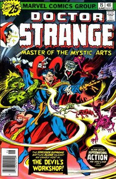 Cover for Doctor Strange (Marvel, 1974 series) #15 [25¢ Cover Price]