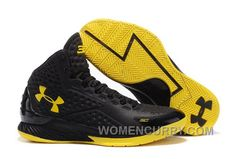 Under Armour UA Curry One (1) PE Black Yellow New Release c36dbfc89