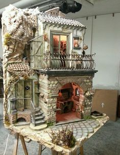 Castle Project, Model Village, Christmas Nativity Scene, Book Nooks, Habitats, Cribs, Action Figures, Beautiful Places, Dollhouses