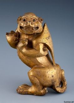 Cute Beast Shang Gold Bronze SB011 | Sunrise Art - Fine Chinese Arts Gallery - Provide Chinese Antiques Including China Porcelain, Vases and Bronze