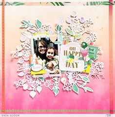 Oh Happy Day Layout by @enzamg with @pinkpaislee #ppconfettiwishes #pastels #cut files