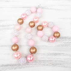Pink and gold bubblegum necklace, Princess bubblegum necklace, Princess party outfit, 1st birthday necklace, girl toddler, girl chunky necklace, baby photo prop, bubblegum bracelet, girl birthday gift, flower girl necklace, chunky bubblegum necklace, matching necklace and bracelet, kids jewelry, baby jewelry, kids fashion, baby fashion, toddler fashion, kids ootd, stylish kids fashion, kids boutique, baby boutique. https://www.etsy.com/listing/399344897/pink-and-gold-bubblegum-necklace