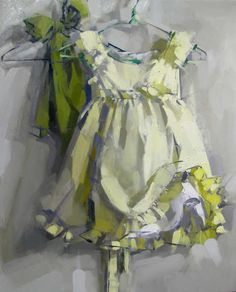 MAGGIE SINER - PAINTINGS, Yellow Dress, 2009, 222x27, oil on linen. Awesome brushwork