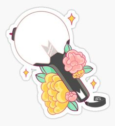 'BTS Army Bomb Cute Design' Sticker by hanimelonii – car stickers Pop Stickers, Tumblr Stickers, Printable Stickers, Cute Laptop Stickers, Theme Bts, Frühling Wallpaper, Bts Army Bomb, Bts Bomb, Kpop Diy