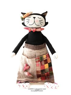 패치워크 앞치마를 입은 마코 고양이 인형 만들기 #마코 #따도냥 #퀼트인형 #마코고양이만들기 #따도냥만들기 #퀼트고양이만들기 #인형만들기 #애착인형만들기  #DIY키트