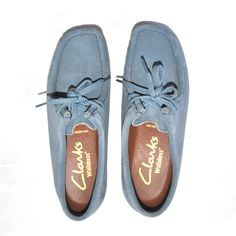 Clarks Blue Suede Wallabees
