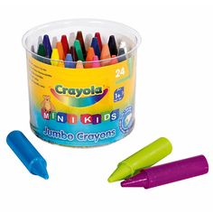 Facilement préhensibles pour les petites mains, ces 24 crayons sont spécialement conçus pour les plus jeunes. De jolies couleurs apparaissent sur le premier dessin.