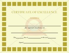 Excellence Certificate Burgundy Circles Template  Certificate Of