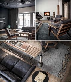 This edgy apartment is situation in the heart of Berlin with a spacious living room and three bedrooms equipped boasting stunning statement furniture Spacious Living Room, My Living Room, Living Spaces, Berlin, Masculine Interior, Concept Home, Interior Decorating, Interior Design, Bedroom Carpet
