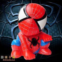 Cheap 25 cm Spiderman alcancías de dibujos animados alcancía no tiene miedo to throw el juguete adornos de muñecas de vinilo regalo de cumpleaños, Compro Calidad Huchas directamente de los surtidores de China:                                    Nombre: