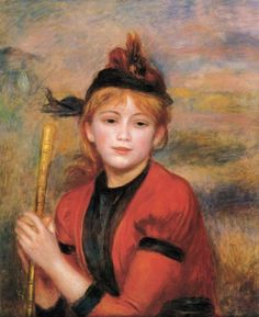 The Rambler 1895 by Pierre Auguste Renoir-Art gallery oil painting. Pierre Auguste Renoir, Edouard Manet, August Renoir, Renoir Paintings, Art Gallery, Impressionist Artists, Oil Painting For Sale, Le Havre, Post Impressionism