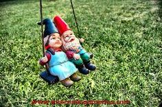 swinging knomes. What could be cuter?
