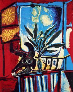 * Nature morte à la tête de taureau 1958 - Picasso
