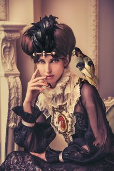 Miss Aniela - Portrait with Pigeon & Poultry