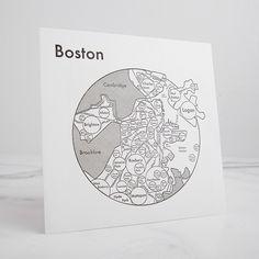 Boston Letterpress Print