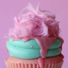 Bubblegum Fairy Floss Candy Cupcake