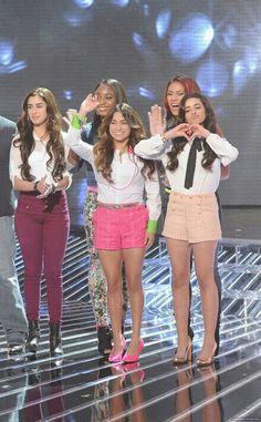 Fifth Harmony-Lauren Michelle Jauregui, Normani Kordei Hamilton, Dinah Jane Hansen, Allyson Brooke Hernandez and Karla Camila Cabello on the X Factor USA 2012
